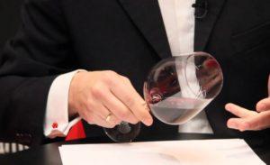 cómo es una cata de vino fase visual