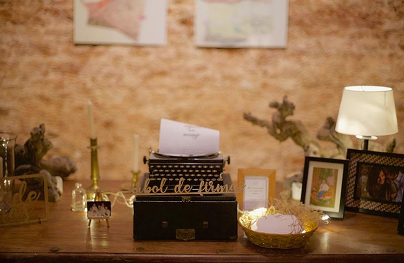 Mesa de firmas bodas